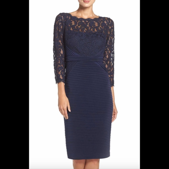 Adrianna Papell Dresses & Skirts - NEW Adrianna Papell Lace & Jersey Sheath Dress